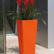 Kiam Square Pot Orange